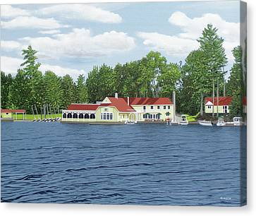 Canoe Canvas Print - Muskoka Lakes Golf And Country Club by Kenneth M Kirsch
