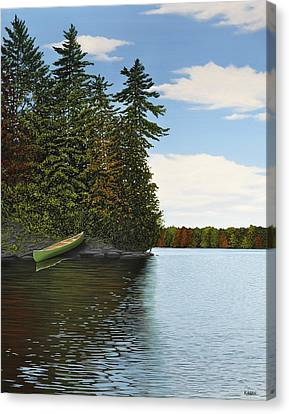 Muskoka Shores Canvas Print by Kenneth M  Kirsch