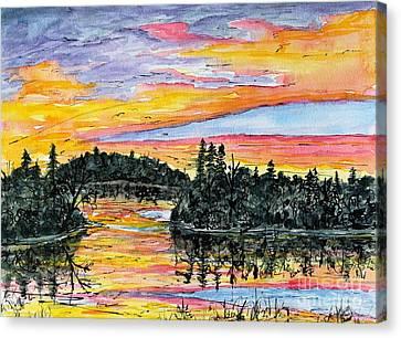 Musky Sunset Canvas Print
