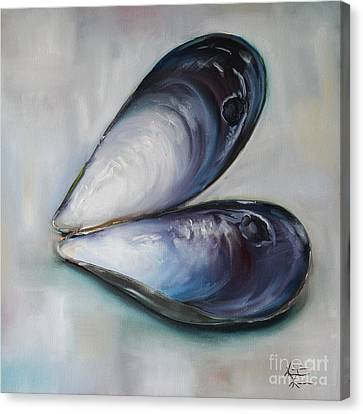 Mussel Shells Canvas Print by Kristine Kainer
