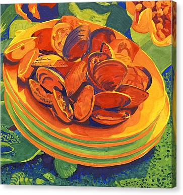Mussels Canvas Print by Carol Ann