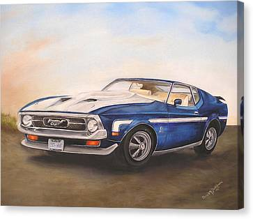 Mustang Canvas Print by Anna-Maria Dickinson