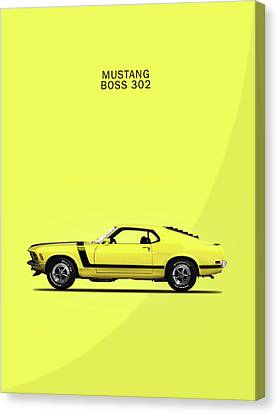 Mustang Boss 302 Canvas Print by Mark Rogan
