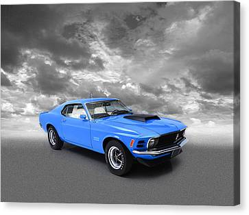 Ford Mustang Canvas Print - Mustang Boss 429 by Mark Rogan