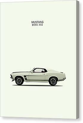 Ford Mustang Canvas Print - Mustang Boss by Mark Rogan