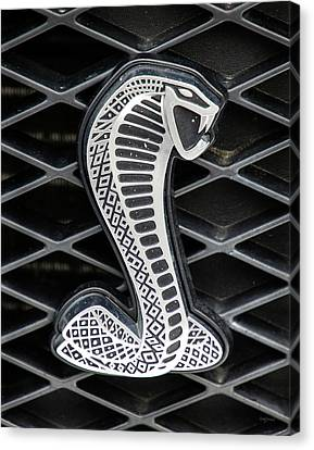 Mustang Cobra Logo Canvas Print by Betty Denise