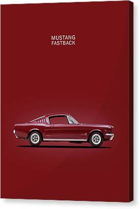 Mustang Fastback Canvas Print by Mark Rogan
