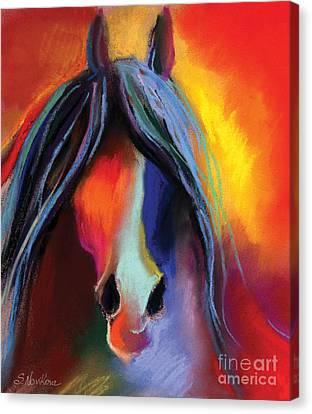 Equine Pastels Canvas Print - Mustang Horse Painting by Svetlana Novikova