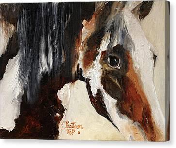 Mustang In My Heart Canvas Print by Barbie Batson