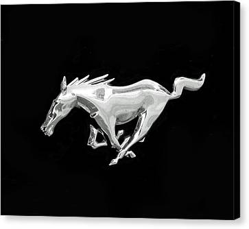 Mustang Canvas Print by Rona Black