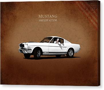 Mustang Shelby Gt 350 Canvas Print by Mark Rogan