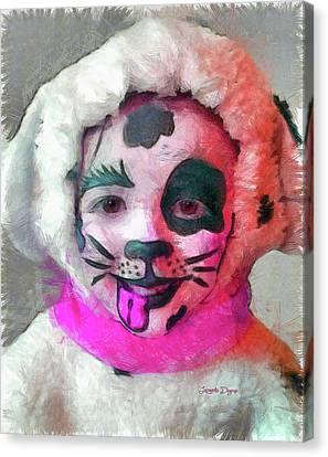 Mutant Dalmatian - Pencil Over Paper Canvas Print by Leonardo Digenio