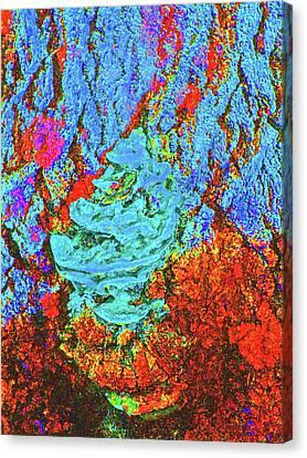 Mutant Mushroom Blue Canvas Print by Mary Ann Weger