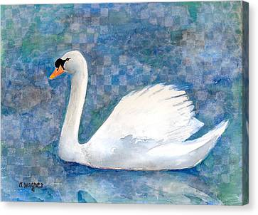 Mute Swan Canvas Print by Arline Wagner