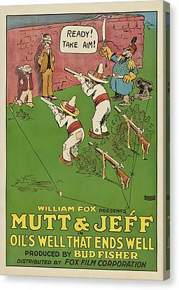 Mutt And Jeff 1919 Canvas Print by Mountain Dreams