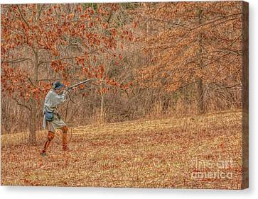Muzzleloader Just One Shot Canvas Print by Randy Steele