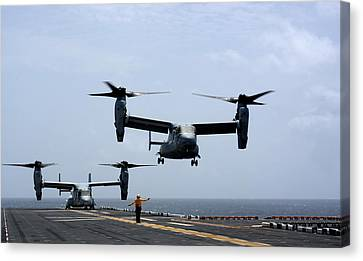Mv-22 Osprey Aircrafts Us Navy Canvas Print by Celestial Images