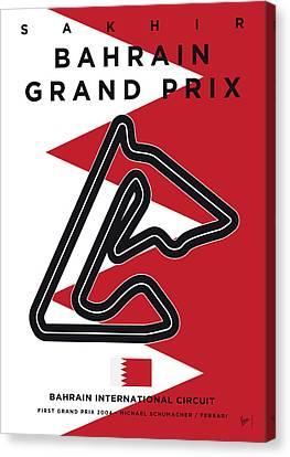 Edition Canvas Print - My 2017 Bahrain Grand Prix Minimal Poster by Chungkong Art