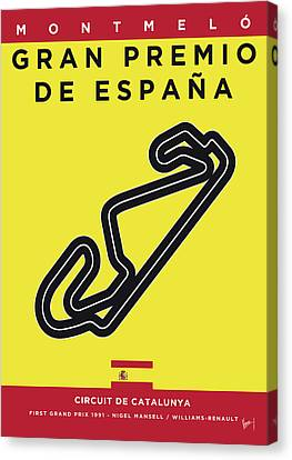 Edition Canvas Print - My 2017 Gran Premio De Espana Minimal Poster by Chungkong Art