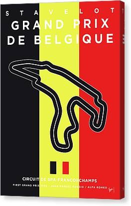 Edition Canvas Print - My 2017 Grand Prix De Belgique Minimal Poster by Chungkong Art