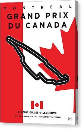 Edition Canvas Print - My 2017 Grand Prix De Canada Minimal Poster by Chungkong Art