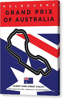 Edition Canvas Print - My 2017 Grand Prix Of Australia Minimal Poster by Chungkong Art