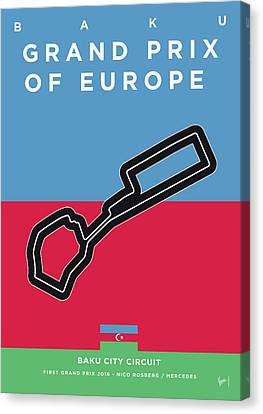 My 2017 Grand Prix Of Europe Minimal Poster Canvas Print