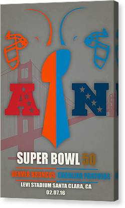 My 2nd Super Bowl Broncos Panthers Canvas Print by Joe Hamilton