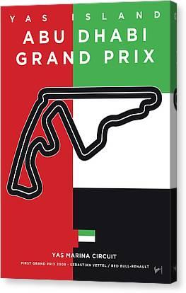 Edition Canvas Print - My Abu Dhabi Grand Prix Minimal Poster by Chungkong Art