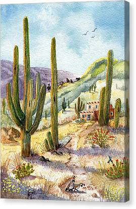 Canvas Print featuring the painting My Adobe Hacienda by Marilyn Smith