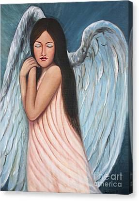 My Angel In Blue Canvas Print