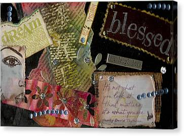 My Art Journal - Blessed Canvas Print by Angela L Walker