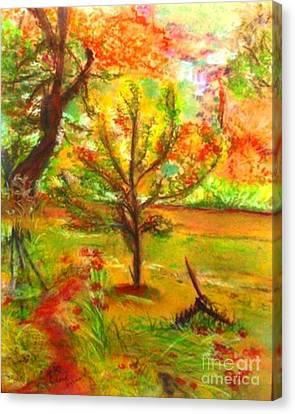 My Art Teacher's Crab Apple Tree Canvas Print by Helena Bebirian