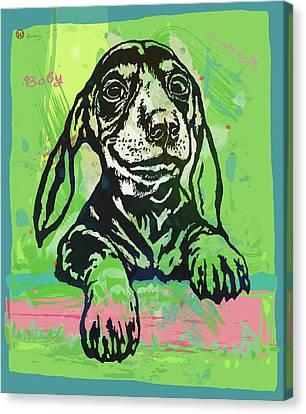 My Baby - Dog Pop Art Poster Canvas Print