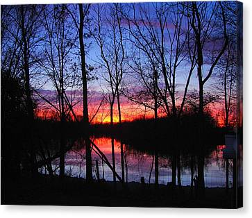 Canvas Print featuring the photograph My Backyard by J R Seymour