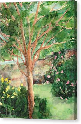 Canvas Print featuring the painting My Backyard by Vicki  Housel