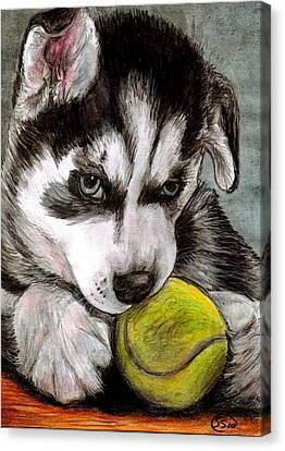 My Ball Canvas Print by Sarah Stanaland