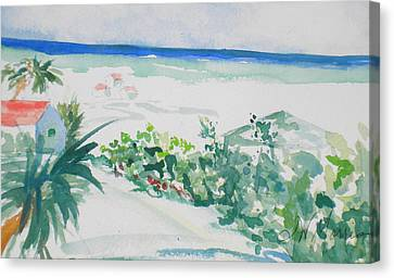 My Beach Cottage In Siesta Key Canvas Print
