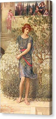My Beloved Has Gone Down To His Garden Canvas Print by John Melhuish Strudwick