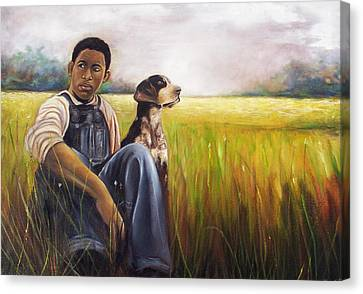 Canvas Print featuring the painting My Best Friend by Emery Franklin