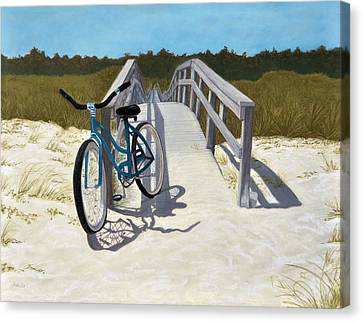 My Blue Bike Canvas Print by Jan Amiss