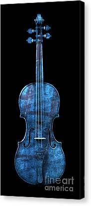 My Blue Violin Canvas Print by John Stephens