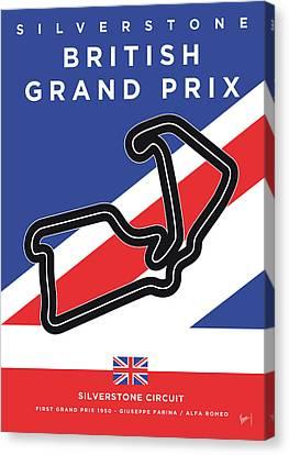 Edition Canvas Print - My British Grand Prix Minimal Poster by Chungkong Art