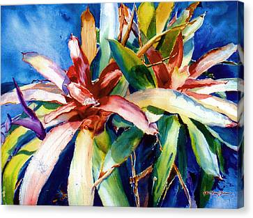 My Bromelias Canvas Print by Estela Robles