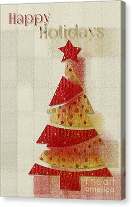 My Christmas Tree 02 - Happy Holidays Canvas Print by Aimelle
