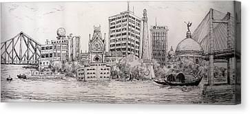 My City Canvas Print by Koustav Sen