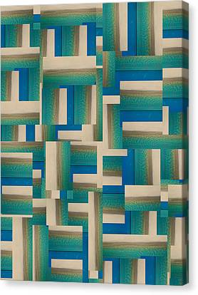 Block Quilts Canvas Print - My Coastal Colors Harmony Inspire Your Home by Betsy Knapp