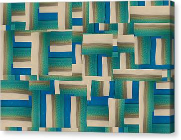Block Quilts Canvas Print - My Coastal Colors Harmony Wave by Betsy Knapp