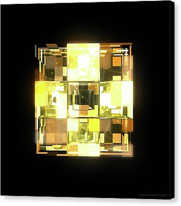 Canvas Print - My Cubed Mind - Frame 001 by Jules Gompertz