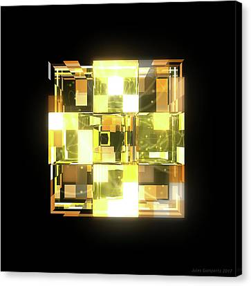 Canvas Print - My Cubed Mind - Frame 019 by Jules Gompertz